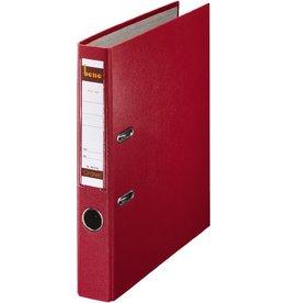 bene Ordner No.1, PP-kaschiert, Einsteckrückenschild, A4, 52 mm, rot