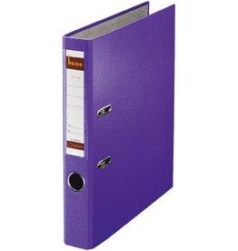 bene Ordner No.1, PP-kaschiert, Einsteckrückenschild, A4, 52 mm, violett