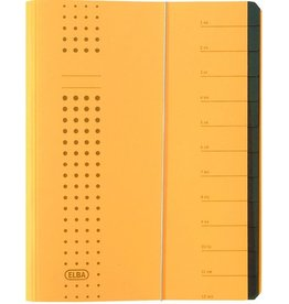 ELBA Ordnungsmappe chic, A4, 25x31,5cm, 12 Fächer, gelb