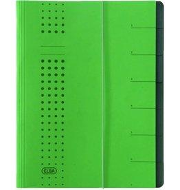 ELBA Ordnungsmappe chic, A4, 25x31,5cm, 7 Fächer, grün