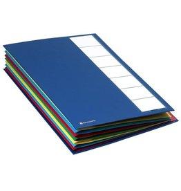 EXACOMPTA Ordnungsmappe ORDONATOR®, A4, 24 x 32 cm, 7 Fächer, blau