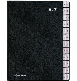 PAGNA Pultordner, Hartpappe, A - Z, A4, 24 Fächer, schwarz