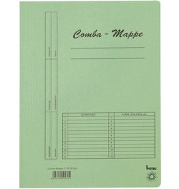 bene Schnellhefter Comba-Mappe, Karton (RC), A4, grün