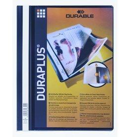 DURABLE Schnellhefter DURAPLUS®, Hartfolie, transp.Vorderd., A4, schwarz