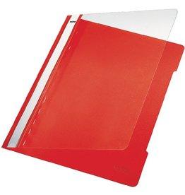 LEITZ Schnellhefter Standard, transp.Vorderd., A4, rot