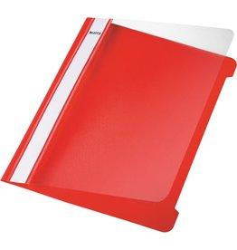 LEITZ Schnellhefter Standard, transp.Vorderd., kfm. Heft., A5, rot