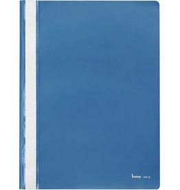 bene Schnellhefter, PP, transparenter Vorderdeckel, A4, blau