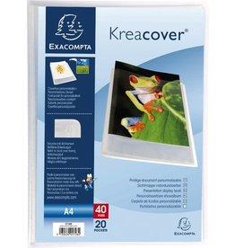 EXACOMPTA Sichtbuch Kreacover® Chromaline, PP, 20 Hüllen, A4, weiß, transparent