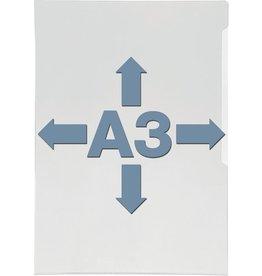 DURABLE Sichthülle, Hartfolie, oben / rechts offen, A3, 0,3 mm, glasklar
