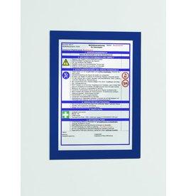 DURABLE Sichttasche DURAFRAME®, magnetisch, selbstklebend, PVC, A4, dunkelblau