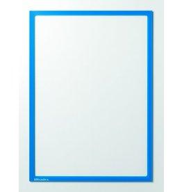 Ultradex Sichttasche, magnetisch, PET, A4, farblos/blauer Rahmen