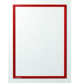 Ultradex Sichttasche, magnetisch, PET, A4, farblos/roter Rahmen