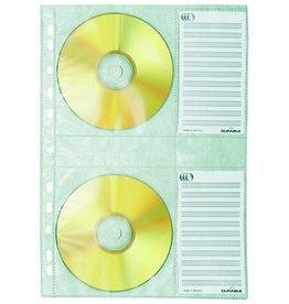 DURABLE Prospekthülle COVER M, PP, Univ.loch., A4, fl, für: 4CDs