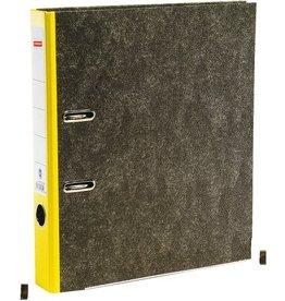 STAPLES Ordner, Wolkenmarmorpapier (RC), SK-Rückenschild, A4, 50mm, gelb