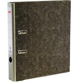 STAPLES Ordner, Wolkenmarmorpapier (RC), SK-Rückenschild, A4, 50mm, grau