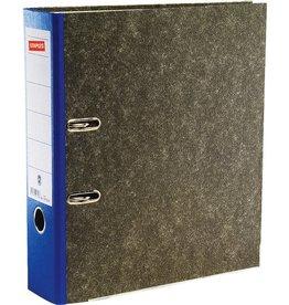 STAPLES Ordner, Wolkenmarmorpapier (RC), SK-Rückenschild, A4, 80mm, blau