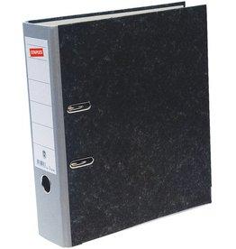 STAPLES Ordner, Wolkenmarmorpapier (RC), SK-Rückenschild, A4, 80mm, grau