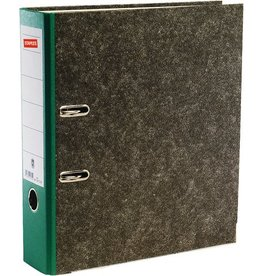 STAPLES Ordner, Wolkenmarmorpapier (RC), SK-Rückenschild, A4, 80mm, grün
