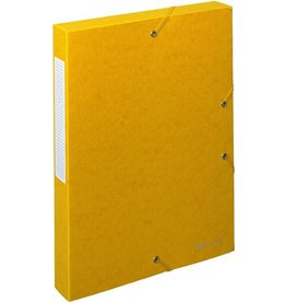 EXACOMPTA Dokumentenbox Exabox, Manilakarton, A4, 24x4x32cm, gelb