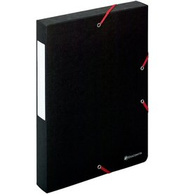 EXACOMPTA Dokumentenbox Exabox, Manilakarton, A4, 24x4x32cm, schwarz