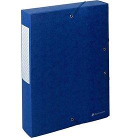 EXACOMPTA Dokumentenbox Exabox, Manilakarton, A4, 24x6x32cm, blau