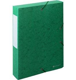 EXACOMPTA Dokumentenbox Exabox, Manilakarton, A4, 24x6x32cm, grün