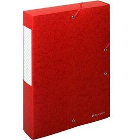 EXACOMPTA Dokumentenbox Exabox, Manilakarton, A4, 24x6x32cm, rot