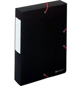 EXACOMPTA Dokumentenbox Exabox, Manilakarton, A4, 24x6x32cm, schwarz