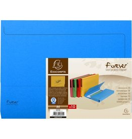 EXACOMPTA Dokumentenmappe Forever®, Karton (RC), Klappe, A4, blau, intensiv