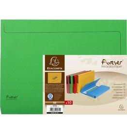 EXACOMPTA Dokumentenmappe Forever®, Karton (RC), Klappe, A4, grün, intensiv