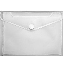 VELOFLEX Dokumententasche Crystal, PP, Klettverschluss, A5, transparent