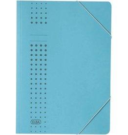 ELBA Eckspanner chic, Karton (RC), 450 g/m², A4, für: 150 Blatt, blau