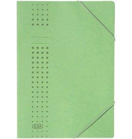 ELBA Eckspanner chic, Karton (RC), 450 g/m², A4, für: 150 Blatt, grün