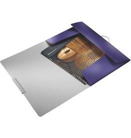 LEITZ Eckspanner Style, PP, 3 Klappen, A4, für: 150 Blatt, titanblau