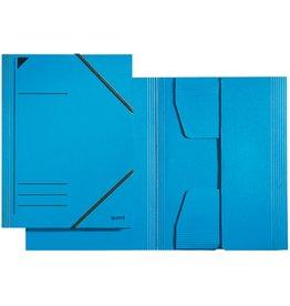 LEITZ Eckspanner, Pendareckarton (RC), 430 g/m², 3 Klappen, A4, blau