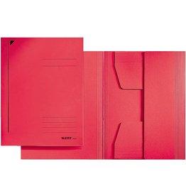 LEITZ Einschlagmappe, Karton (RC), 430 g/m², 3 Klappen, A3, für: 250Bl., rot