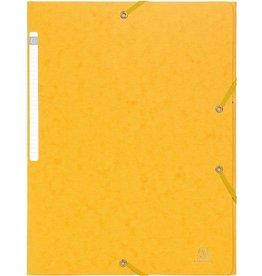 EXACOMPTA Einschlagmappe, Manila, 600g/m², Eckspanngummi, A4, 24x32cm, gelb