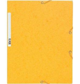 EXACOMPTA Einschlagmappe, Manila, Ecksp.gummi, 3 Klappen, A4, gelb
