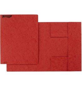 DONAU Einschlagmappe, Pressspan, 390 g/m², 3 Klappen, A4, rot