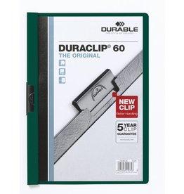 DURABLE Klemmmappe DURACLIP®, Hartfolie, A4, für: 60 Blatt, petrol
