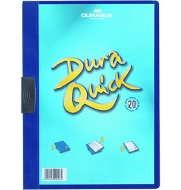 DURABLE Klemmmappe DURAQUICK®, PP, A4, für: 20Bl., dunkelblau
