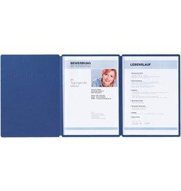 PAGNA Klemmmappe Supreme, Karton, A4, 22,5 x 31 cm, blau