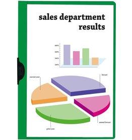 STAPLES Klemmmappe, transparenter Vorderdeckel, A4, für: 1 - 30 Blatt, grün