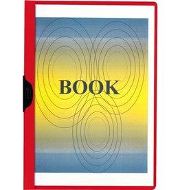 STAPLES Klemmmappe, transparenter Vorderdeckel, A4, für: 1 - 60 Blatt, rot