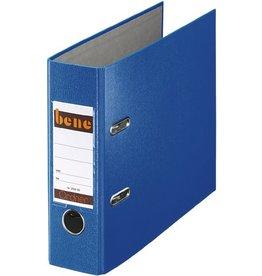 bene Ordner No.1, PP-kaschiert, Einsteckrückenschild, A5, 75 mm, blau