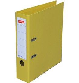STAPLES Ordner Premium, PP, Einsteckrückensch., m.Griffloch, A4, 80mm, gelb