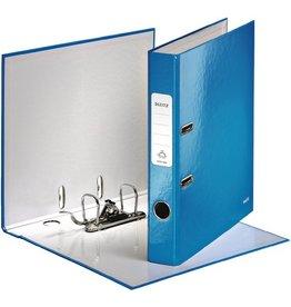 LEITZ Ordner WOW, Graupappe, SK-Rückenschild, A4, 52 mm, blau, metallic