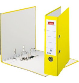 STAPLES Ordner, Spezialpapier, SK-Rückenschild, A4, 80 mm, gelb