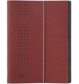 ELBA Ordnungsmappe chic, A4, 25x31,5cm, 7 Fächer, bordeaux