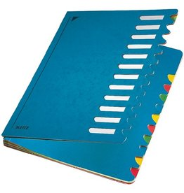 LEITZ Ordnungsmappe Colour, A4, 24,5x32cm, 12 Fä., blau